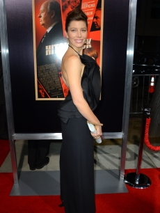 Jessica Biel arrives at the premiere of 'Hitchcock' in Beverly Hills, Calif. on November 20, 2012