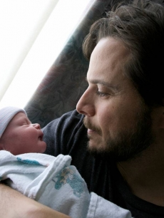 Scott Wolf seen holding baby Miller William