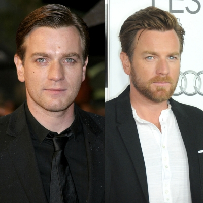 Ewan McGregor is Obi-Wan Kenobi in 'Star Wars Episode III: Revenge of the Sith.' (Left) The actor attends a 2005 London Premiere for the George Lucas film and seven years later Ewan is seen at the AFI Fest in Hollywood, Calif.