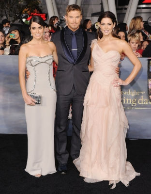 Nikki Reed, Kellan Lutz and Ashley Greene arrive at the Los Angeles Premiere &#8216;The Twilight Saga: Breaking Dawn - Part 2&#8217; at Nokia Theatre L.A. Live in Los Angeles on November 12, 2012 