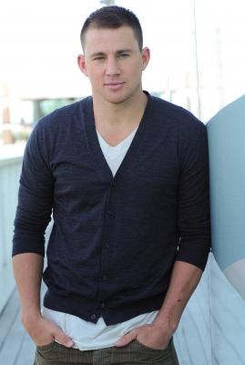 Channing Tatum poses for a portrait at the press junket for his new film 'Magic Mike' at the Thompson Hotel in Toronto on June 14, 2012