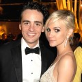 Vincent Piazza and Ashlee Simpson attend HBO's Official Emmy After Party at The Plaza at the Pacific Design Center in Los Angeles on September 23, 2012