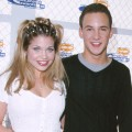 Danielle Fishel & Ben Savage during Nickelodeon's 12th Annual Kids Choice Awards at UCLA Pauley Pavillion in Westwood, California in 1999