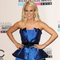 Carrie Underwood poses in the press room at the 40th American Music Awards at Nokia Theatre L.A. Live on November 18, 2012 in Los Angeles