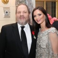 Harvey Weinstein and Georgina Chapman attend a reception for the screening of &#8216;The Intouchables&#8217; at the French Embassy in New York City on April 30, 2012 