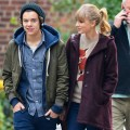 One Direction's Harry Styles and Taylor Swift show off their new relationship with a date to the Central Park Zoo in New York City on December 2, 2012