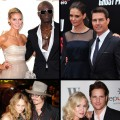 Stars who split in 2012: Heidi and Seal, Katie and Tom, Vanessa and Johnny, Jennie and Peter