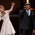 Taylor Swift and rapper LL Cool J perform onstage at The GRAMMY Nominations Concert Live! held at Bridgestone Arena on December 5, 2012 in Nashville