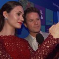 Microsoft All Access Holiday Party: Emmy Rossum Snaps A Pic With Billy Bush