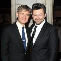Martin Freeman and Andy Serkis attend 'The Hobbit: An Unexpected Journey' premiere after party at the Guastavino's, New York City, on December 6, 2012