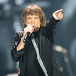 Mick Jagger of the Rolling Stones rocks out on stage at the 02 Arena in London on November 25, 2012