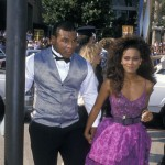Mike Tyson and Robin Givens attend 40th Annual Primetime Emmy Awards at the Pasadena Civic Auditorium, Pasadena, on August 28, 1988