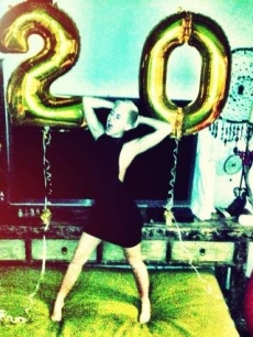 Miley Cyrus celebrates her 20th birthday on November 23, 2012