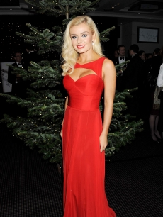 Katherine Jenkins switches on the St James' Church Christmas Lights on Jermyn Street on November 20, 2012 in London