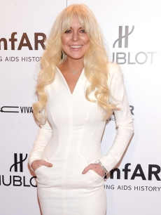 Lindsay Lohan attends the amfAR New York Gala To Kick Off Fall 2012 Fashion Week Presented By Hublot at Cipriani Wall Street on February 8, 2012 in New York City