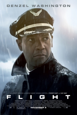 Denzel Washington stars in the drama 'Flight,' as a pilot saving lives after an airplane crash, coming out on November 2, 2012