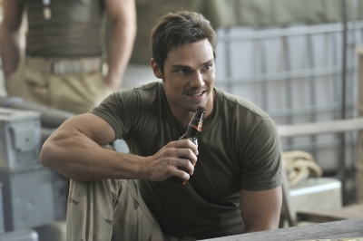 Welcome to the gun show! Jay Ryan in The CW's 'Beauty and the Beast'