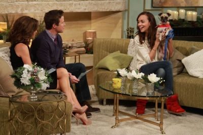 &#8216;Revenge&#8217; star Ashley Madekwe visits Access Hollywood Live for our monthly pet adoption segment on November 30, 2012 