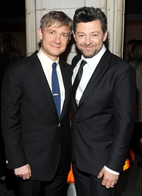 Martin Freeman and Andy Serkis attend &#8216;The Hobbit: An Unexpected Journey&#8217; premiere after party at the Guastavino&#8217;s, New York City, on December 6, 2012