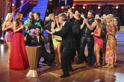 Tony Dovolani and Melissa Rycroft celebrate their victory on 'Dancing with the Stars: All-Stars,' Nov. 27, 2012