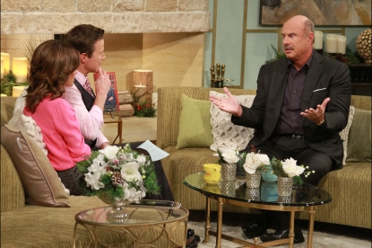 Dr. Phil McGraw chats with Billy Bush and Kit Hoover on Access Hollywood Live, November 29, 2012