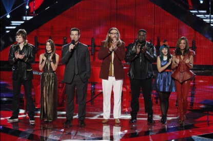 Contestants on NBC's 'The Voice'