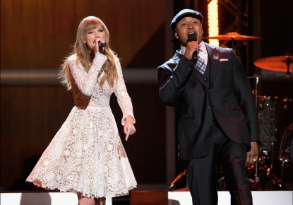 Taylor Swift and LL Cool J perform onstage at The Grammy Nominations Concert Live!! held at Bridgestone Arena on December 5, 2012 in Nashville, Tennesse.