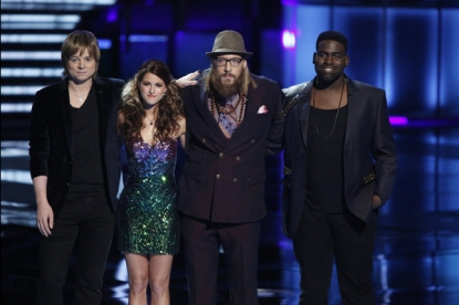 The final four contestants on 'The Voice'