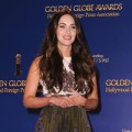 Megan Fox is seen onstage during the 70th Annual Golden Globes Awards Nominations at the Beverly Hilton Hotel on December 13, 2012 in Los Angeles