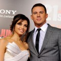 Channing Tatum and his wife Jenna Dewan arrive at the premiere of '21 Jump Street' on March 13. 2012 in Los Angeles