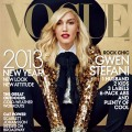 Gwen Stefani on the cover of the Vogue January 2013 issue