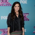 Demi Lovato attends Fox's 'The X Factor' season finale news conference at CBS Televison City on December 17, 2012 in Los Angeles