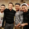 Billy Bush is joined by 'Jersey Shore' stars Vinny Guadagnino, Pauly D and Mike 'The Situation' Sorrentino on Access Hollywood Live on December 19, 2012