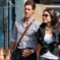 Jason Hoppy and Bethenny Frankel walk in the Meatpacking District on September 23, 2010 in New York City