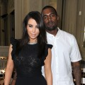 Kim Kardashian and Kanye West attend the Valentino Haute-Couture show as part of Paris Fashion Week Fall / Winter 2012/13 at Hotel Salomon de Rothschild on July 4, 2012 in Paris