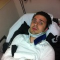 Kris Allen seen in the hospital on January 1, 2013