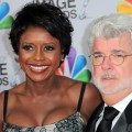 Mellody Hobson and George Lucas arrive at the 43rd NAACP Image Awards held at The Shrine Auditorium on February 17, 2012 in Los Angeles