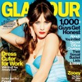 Zooey Deschanel on the February 2013 cover of Glamour magazine