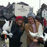 Taylor Swift and Harry Styles spotted in England on December 12, 2012