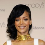 Rihanna is seen looking glam at the launch of her 'Nude by Rihanna' fragrance at Macy's Westfield in Century City, Calif., on December 1, 2012