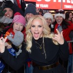 Jenny McCarthy hosts Dick Clark's New Year's Rockin' Eve with Ryan Seacrest 2013 in Times Square on December 31, 2012 in New York City