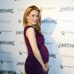 Baby bumpin&#8217;! Holly Madison flashes a smile at the Rock Of Ages opening after party at The Venetian in Las Vegas on January 5, 2013 