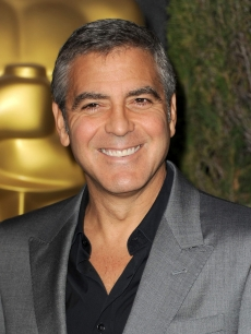 George Clooney arrives at the 84th Academy Awards Nominations Luncheon at The Beverly Hilton hotel on February 6, 2012 in Beverly Hills