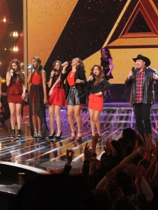 Carly Rose Sonenclar, Fifth Harmony and Tate Stevens perform during &#8216;The X Factor&#8217; Season 2 final, Dec. 20, 2012