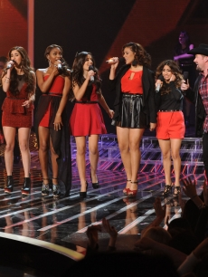 Finalists Carly Rose Sonenclar, Fifth Harmony and Tate Stevens perform during &#8216;The X Factor&#8217; Season 2 finale, Dec. 20, 2012