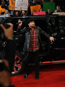 Tate Stevens arrives at &#8216;The X Factor&#8217; Season 2 finale, Dec. 20, 2012