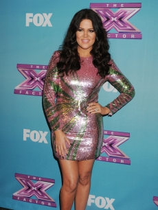 Khloe Kardashian Odom attends the FOX's 'The X Factor' Season Finale - Night 2 at CBS Televison City, Los Angeles, on December 20, 2012