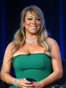 Mariah Carey of 'American Idol' speaks onstage during the FOX portion of the 2013 Winter TCA Tour at Langham Hotel on January 8, 2013 in Pasadena, Calif.