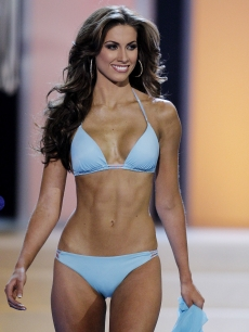 Miss Alabama USA Katherine Webb competes in the swimwear competition during the 2012 Miss USA pageant at the Planet Hollywood Resort & Casino on June 3, 2012 in Las Vegas