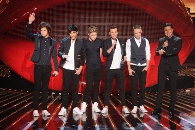 One Direction perform during &#8216;The X Factor&#8217; finale, Dec. 20, 2012